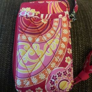 Vera Bradley all in one wristlet